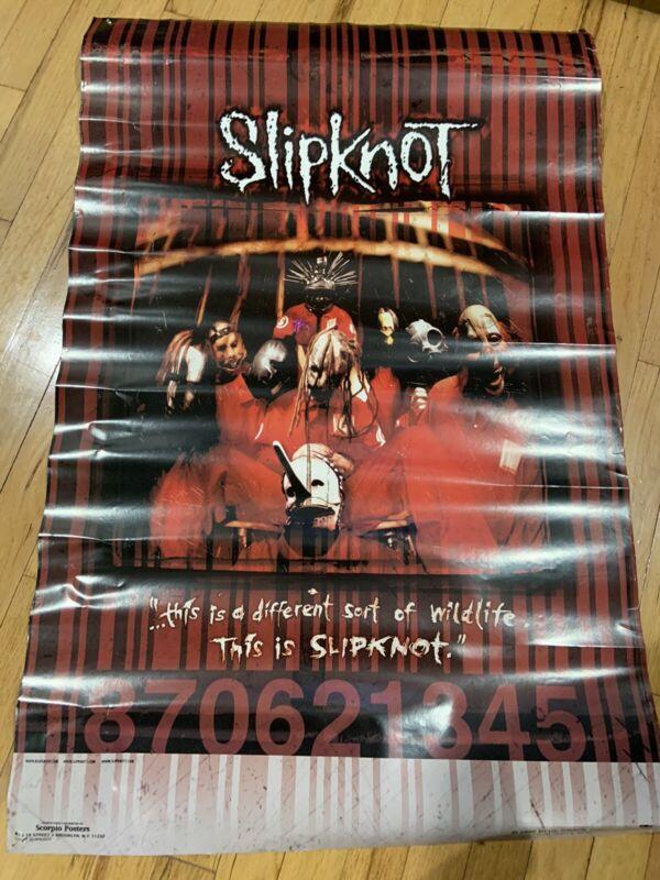 Slipknot Self Titled Rare 1999 Blue Grape Scorpio Poster