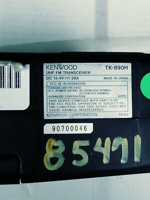Kenwood Tk-890h Tk890 Tk890h Uhf 100 Watt Mobile Rear Remote Mount Radio