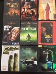 Lot de 15 films d'horreur