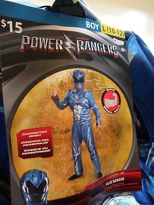 Civil War Blue Ranger Halloween Costume Muscle Chest New Rubies Boys Sz L(10-12)