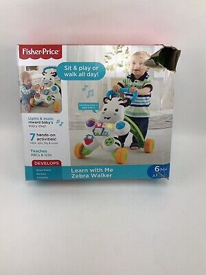Fisher-Price Learn with Me Zebra Infant Toddler Walker 6M+