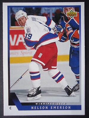 NHL 342 NELSON EMERSON WINNIPEG JETS UPPER DECK 1993 94