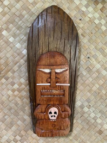 New Wall Mount Happy Cannibal Tiki Surf Mask Smokin