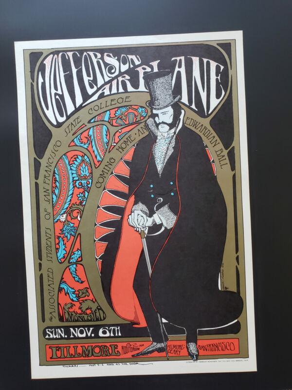 Jefferson Airplane Concert Poster 1966 Fillmore Edwardian Ball