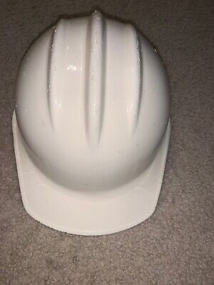 Vintage Hard Boiled Hard Hat White Plastic