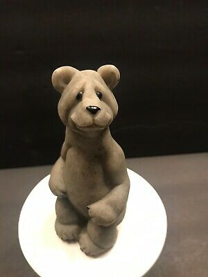 Quarry Critters Stone Sitting Bear Figurine 1999 Sitting Bear Figurine