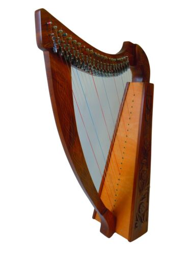 22 Strings Rosewood Lever Harp with free Strings, Tuning Key and Cayying Bag