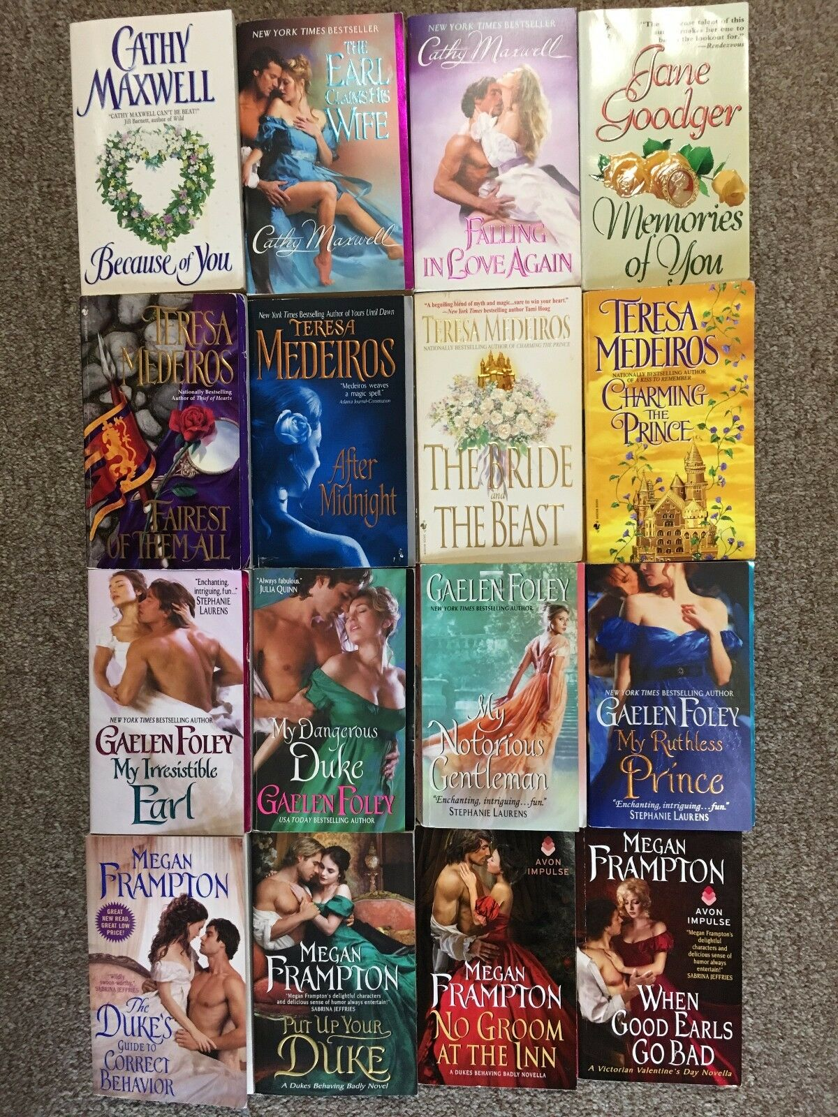 Historical Romance lot of books INSTANT COLLECTION 5 lbs of books!!!