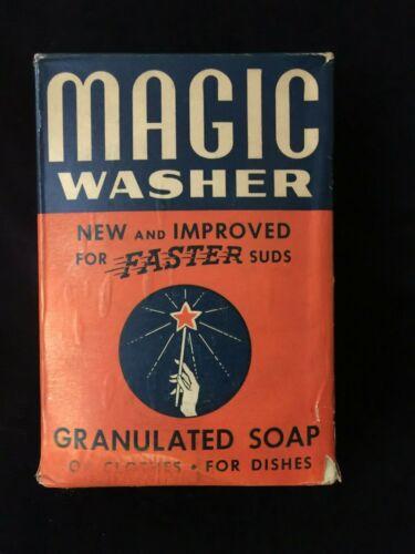 Vintage MAGIC Washer Granulated Soap NOS Original Box 1930s/40s