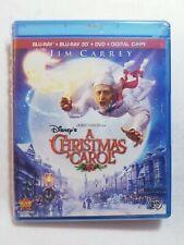 Disney A Christmas Carol - Jim Carrey- 3D Blu-ray/Blu Ray/DVD/Digital copy   eBay