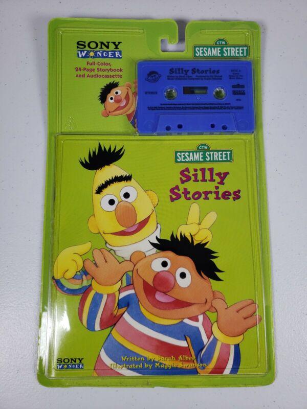 Vintage Sesame Street Sony Wonder Bert Nd Ernie Silly Stories NOS 1998     Wp