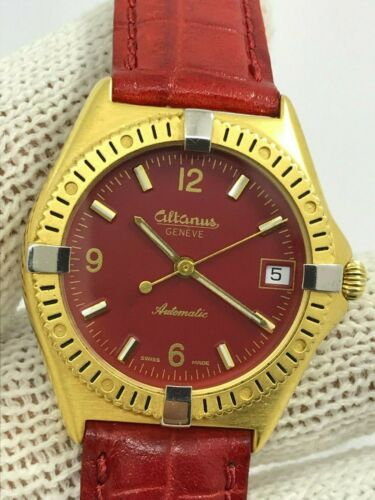 ALTANUS GENEVE 8350 AUTOMATIC CAL.ETA 2892-2 GOLD PLATED MENS 34.5mm SWISS MADE