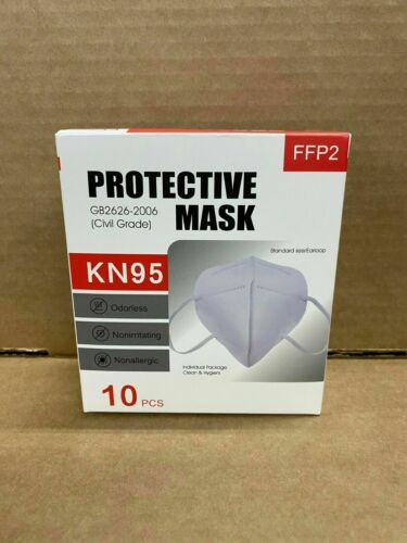 KN95 Face Mask Respirator 10 Pack Medical PM2.5 Breathable 4-Layer Protection