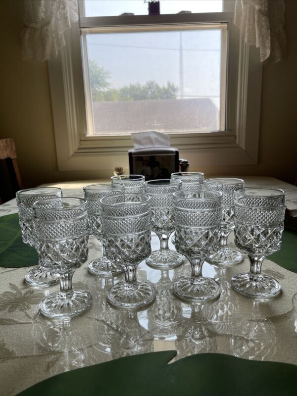 10 Each Wexford Anchor Hocking Sherry Glasses EUC