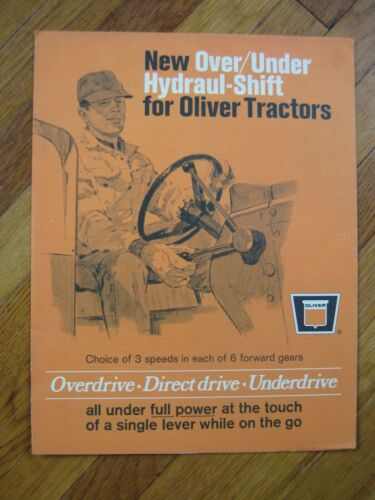1968 Oliver Over Under Hydraul-Shift Brochure 1650 1750 1850 1950-T Tractor