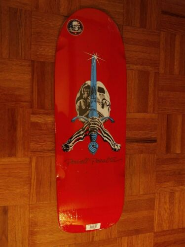 powell peralta skull and sword deck red