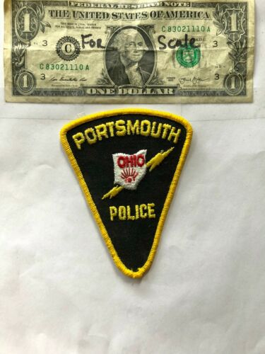 Portsmouth Ohio Police Patch un-sewn in great shape