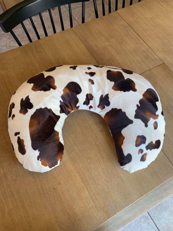 Boppy Nursing Pillow Cover Handmade Cow Double Side Minky Velboa