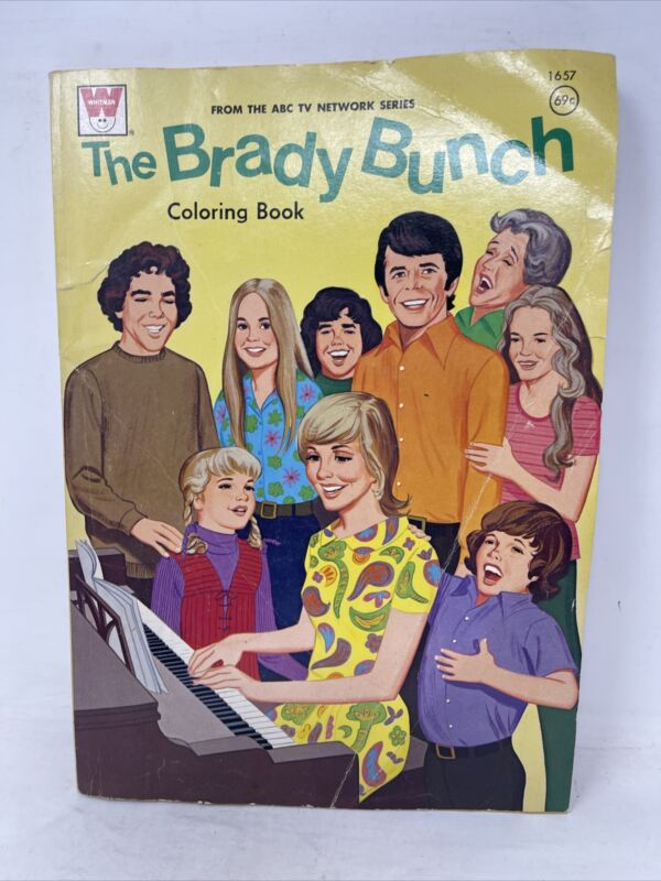 Brady Bunch coloring book - Whitman ABC Network TV Series 1974 Read Details