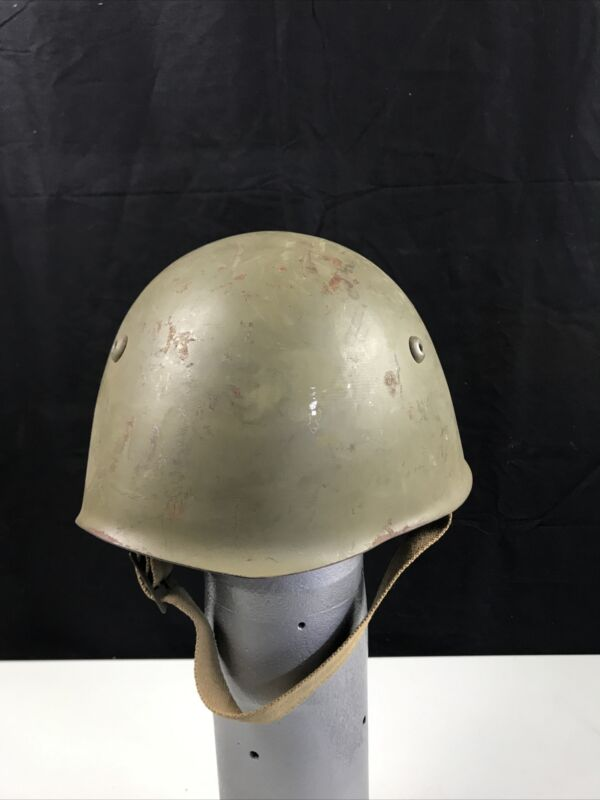 WWII Italian Italy Army Military Helmet Mediterranean Paint Color