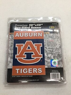 NCAA Auburn Tigers 2-sided 28 X 40in House Banner With Pole Sleeve Outdoor Flags ()