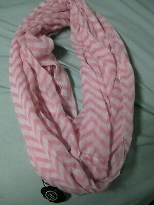 Macee Leigh pink chevron infinity scarf