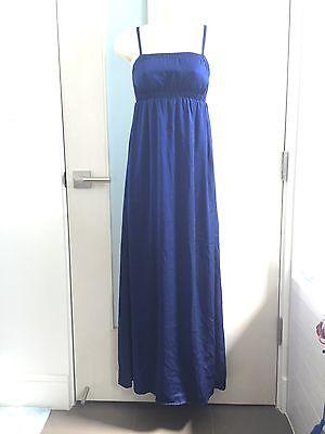 G By Giuliana Rancic Long Empire Waist Navy Blue Maxi Dress Gown Xxs 00