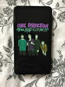 One Direction black portable phone charger