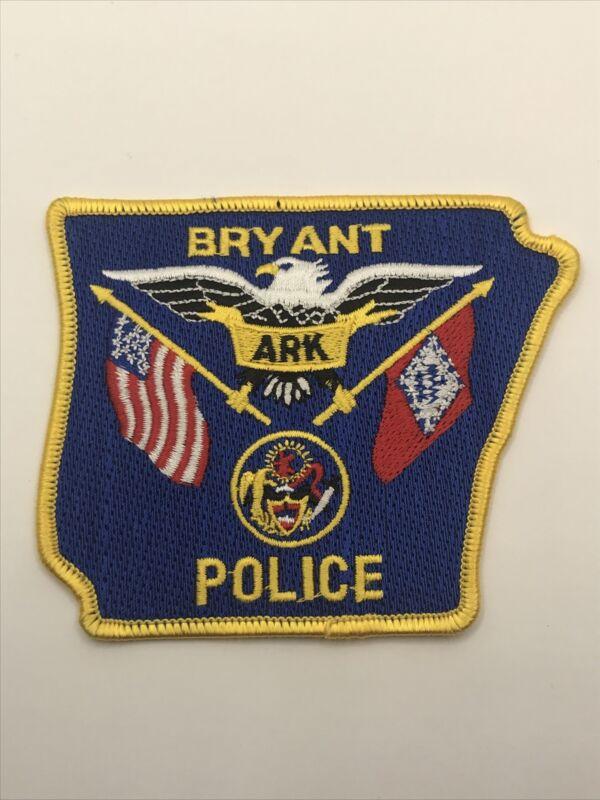 Bryant Arkansas Police Dept Shoulder Patch State Shaped