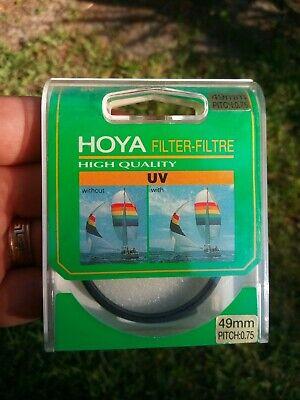HOYA 49mm UV Slim Frame Filter For Camera Lens VINTAGE NEW OLD STOCK U.S. (Vintage Lens Philippines)