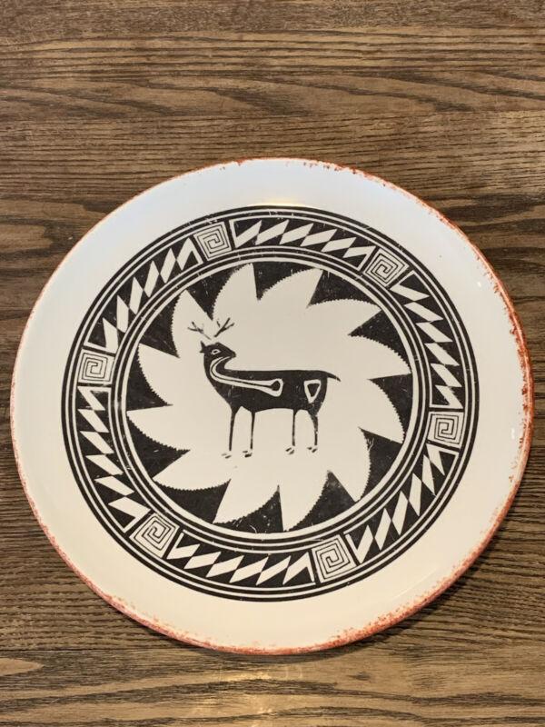 **Vintage Kay Mallek Original Deer Plate Southwest Native Arizona**