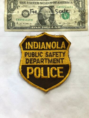 Indianola Iowa Police Patch pre-sewn good shape