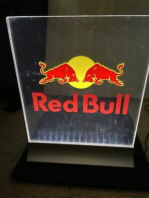 """Red Bull Energy Drink Acrylic Table LED Panel Lighted Sign 10"""" x 12"""" New in Box"""