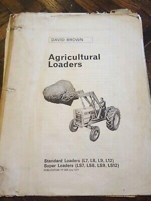 David Brown Loaders For 770 780 880 990 1200 Manual Original