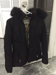 Calvin Klein hooded down coat jacket, Size S, 100% down