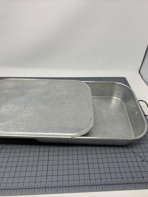 Vintage WEAR EVER Aluminum Cake Pan No.2612 w Handles & Slide-On Lid No.2612 1/2