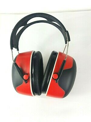New 3m Over The Head Earmuff Ear Protectors Hearing Protection Red Black