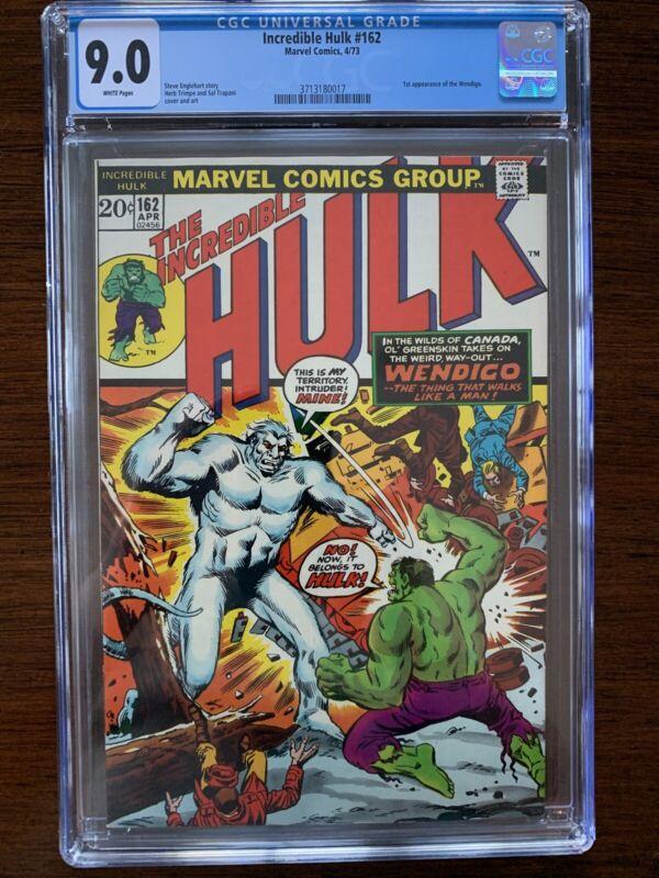 Incredible Hulk #162 CGC 9.0 (Marvel 1973) 1st appearance of the Wendigo!  Key!