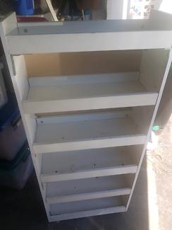 Portable shelves on wheels