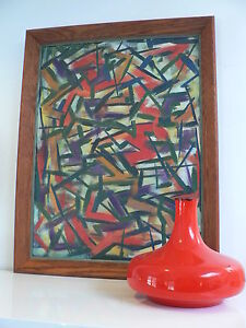 1950s abstract expressionism art painting / mid century  50s wall art