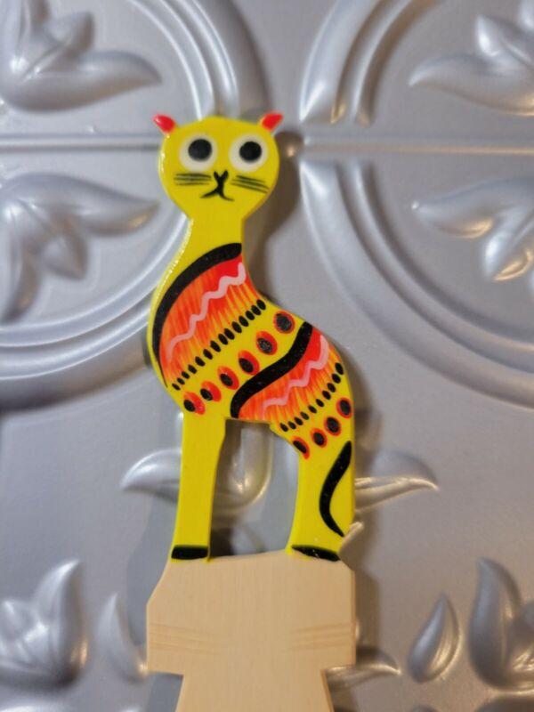 Handpainted Alebrije Wood Bookmark