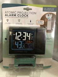616-146 La Crosse Technology Atomic Projection Alarm Clock USB TX141.. New