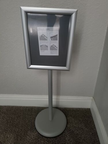 Office Sign Billboard Display Stand Aluminum Alloy Board Sign Stand - SILVER