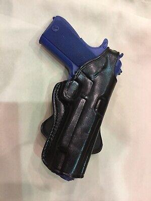 """Premium Leather PADDLE Holster - COLT / KIMBER / RUGER 1911 5"""" bbl (# 3011 BLK) Paddle Holster Colt"""