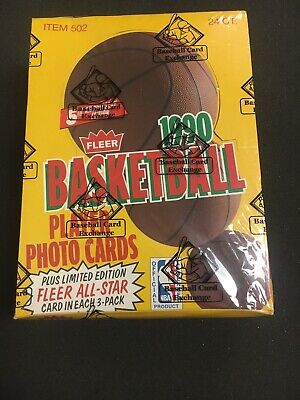 1990 Fleer Basketball Rack Pack Box BBCE Authenticated FASC From A Sealed Case ! 1990 Fleer Rack