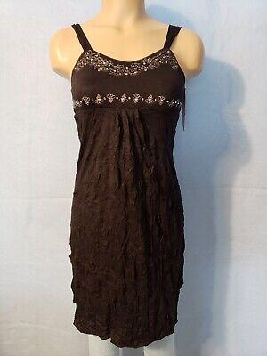 NEW Xhilaration Junior Girl's Black Crinkle Tank Top Dress Silver Sequins Medium Crinkle Tank Dress