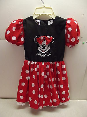 WALT DISNEY WORLD KIDS MINNIE MOUSE DRESS FOR DRESS UP COSTUME OR WEAR SIZE 5](Minnie Mouse Costume For Kids)