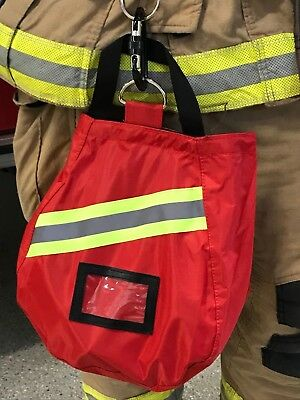 Scba Mask Bag 2018 Deluxe Red Firefighter Isi Emt Firerespirator