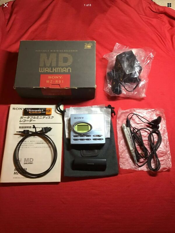 Sony MZ-R91 Minidisc Recorder Very Nice Perfect Working Complete In Box Rare