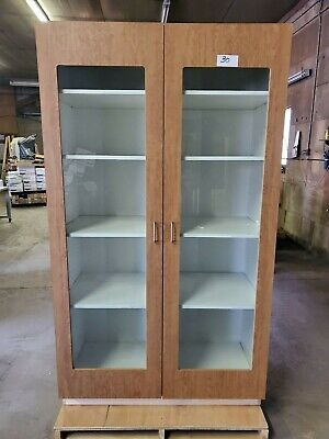 Large Wood Display Shelfcabinet 8 Ft Tall X 4 Ft Wide X 2 Ft Deep